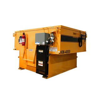 2 Ton Big A Km 4000 Skid Mount Propane Asphalt Hot Box For
