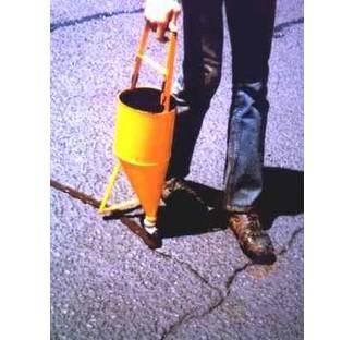 image: Applying Asphalt Crack Filler with a pourpot