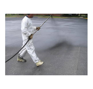 image: Applying Asphalt Sealer