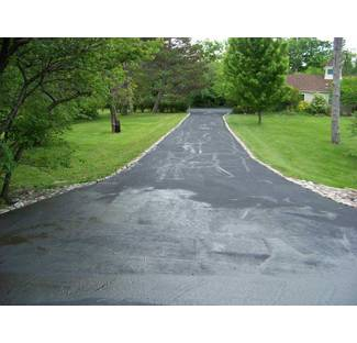 Image:  After sealing pavement with asphalt emulsion