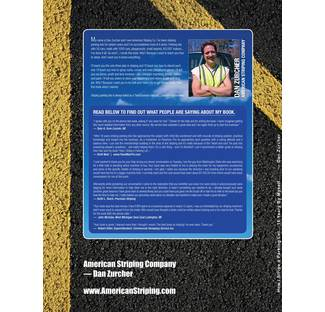 Image: Parking Lot Striping Business Book Back Cover