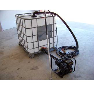 Image: 275 gallon tote with optional spray system