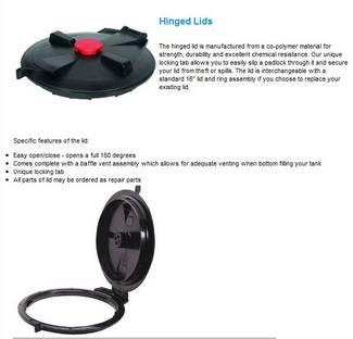 image: Hinged Poly Tank Lid