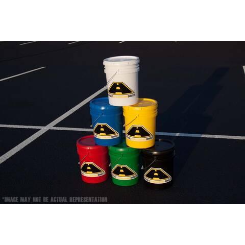 image: Pyramid of 5 gallon buckets