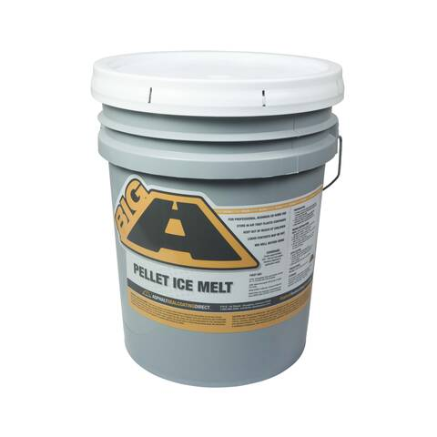 image: 5 gallon pail of the big a pellet ice melt