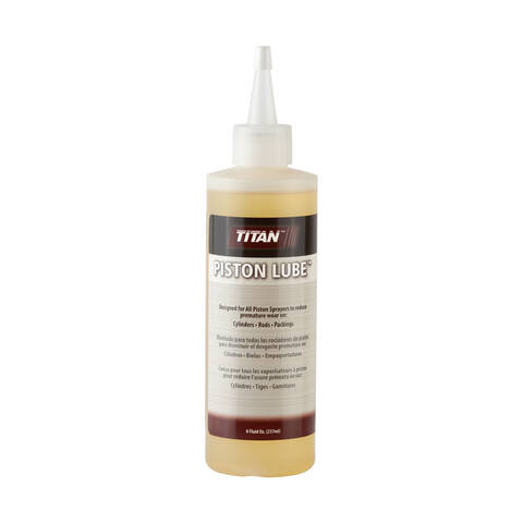 Overview image of the Titan airless sprayer 8 ounce Piston Lube
