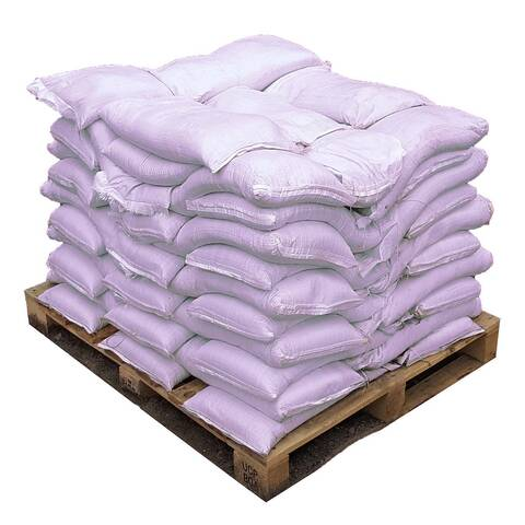 image of a pallet with bags of premium ice and snow melt