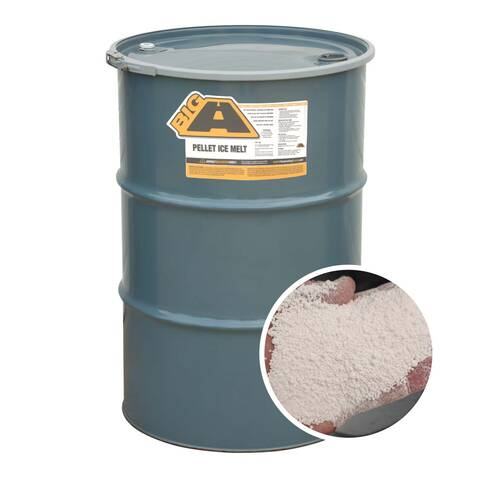 image of the BIG A 55 gallon Calcium Chloride Pellet Ice Melt