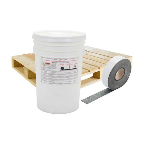 image of a pallet, bucket and 2 inch quikjoint crack tape