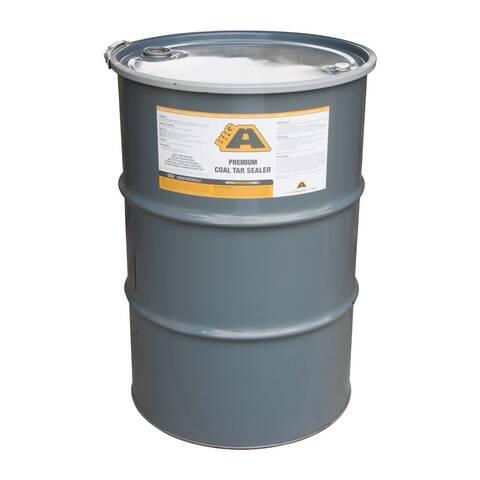 Overview image of a 55 gallon barrel of BIGA Premium Coal Tar sealer
