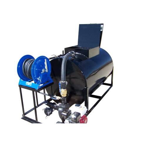 Image: Asphalt Sealcoat Sprayer SteelSkidPro550 Front (Optional Hose Reel)