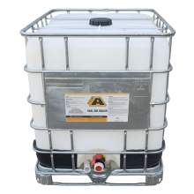 Overview image of a 275 gallon IBC tote of the BIG A Coal Tar Sealer
