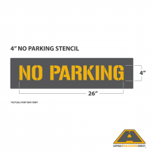 "Image of 4"" NO PARKING Stencil"