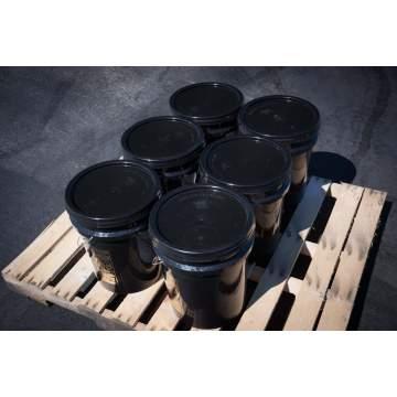 Pallet showing 6 buckets of BIGA Asphalt Emulsion Sealer