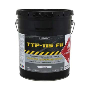 image of a 5 gallon bucket of TTP-115 Type II chlorinated rubber alternative paint