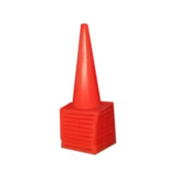 image: Stack of 10 18 Inch Traffic Cones