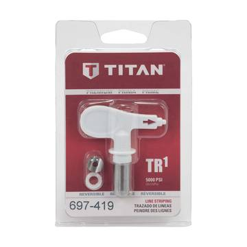 Image of a Packaged Titan TR1 White Line Striping Tip 697-419