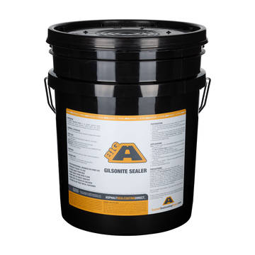 Overview of a 5 gallon bucket of BIGA Gilsonite Sealer