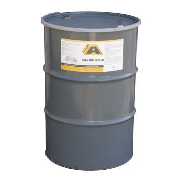 Overview image of a 55 gallon barrel of BIG A Coal Tar Sealer
