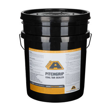 5 gallon bucket overview of the BIG A PitchGrip Coal Tar Sealer