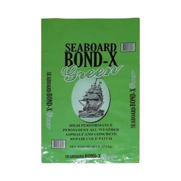 image of a 60 lb bag of bond-x pothole patch