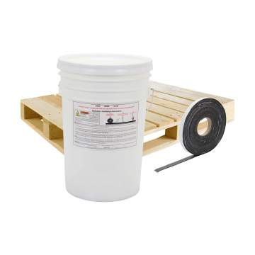 image of a pallet, bucket and 1 inch quikjoint crack tape