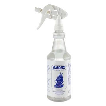 Overview image of a 1 quart (32oz) bottle of asphalt cleaner