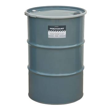 image representation of a 55 gallon barrel of polycoat clear paint