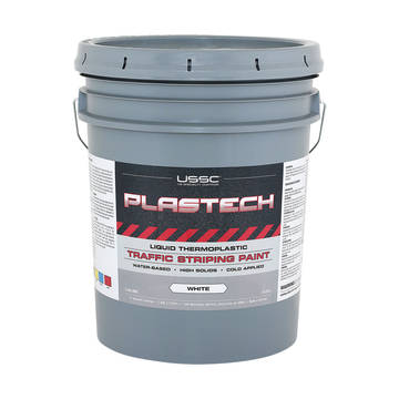 image of a 5 gallon pail of Plastech Cold Thermoplastic Paint