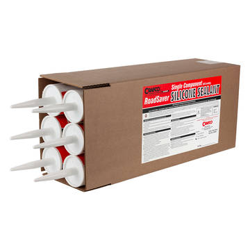Crafco self-leveling concrete joint sealer with 6 tubes per case