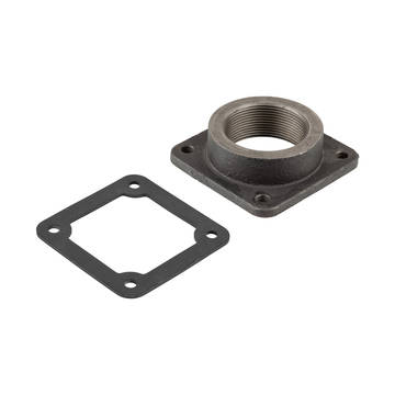 Overview image of the Banjo 2 inch outlet flange and gasket