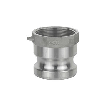 Overview image of the A200 2 inch aluminum male cam to female thread