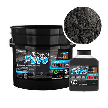 Overview image of the 25lb bucket of TrowelPave Asphalt SpeedSet Patch
