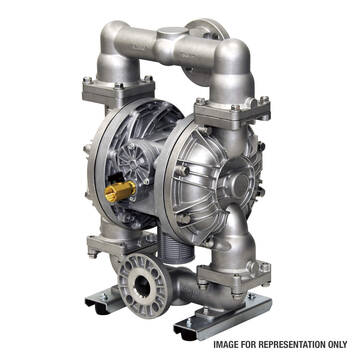"""Representative overview of the Iwaki Air 1.5"""" air powered stainless steel pump"""