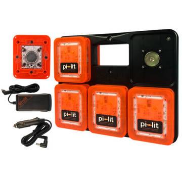 overview image of the Pi-Lit 10 pack orange road flare kit
