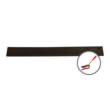Overview of the Marshalltown low temp black neoprene u-squeegee replacement blade