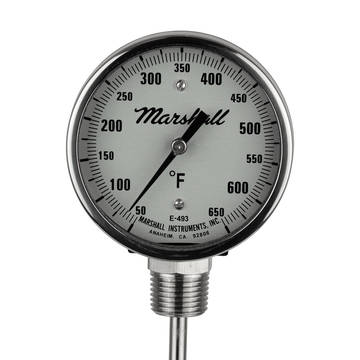 Closeup image of the Marshall melter thermometer