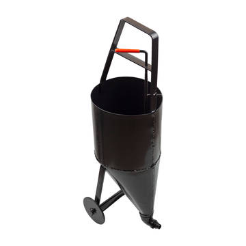 Overview image of the Marshalltown 2.6 gallon pour pot with wheels