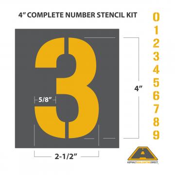 "Image of 4"" Number Stencil Kit"