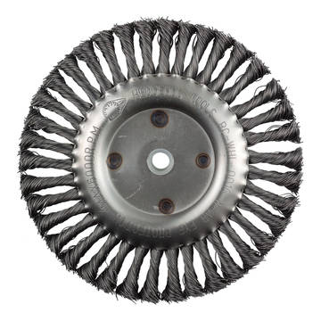"""Overview image of the HedgeHog Tools 8"""" Wire Wheel"""
