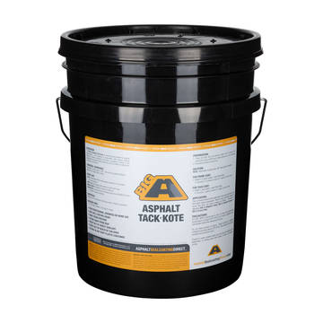 5 Gallon bucket overview of the BIGA Asphalt Tack-Kote Primer