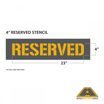 "Image of 4"" RESERVED Stencil"