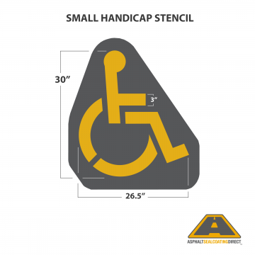 Image of Small Handicap Stencil