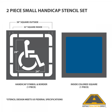 Image of Small Federal Handicap Stencil
