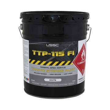 image of a 5 gallon bucket of TTP-115 Type I solvent paint