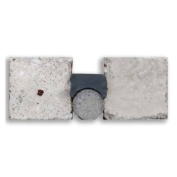 Example side cut image of the Crafco Roadsaver Silicone SL between two concrete joints.