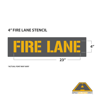 "Image: 4"" FIRE LANE Stencil"