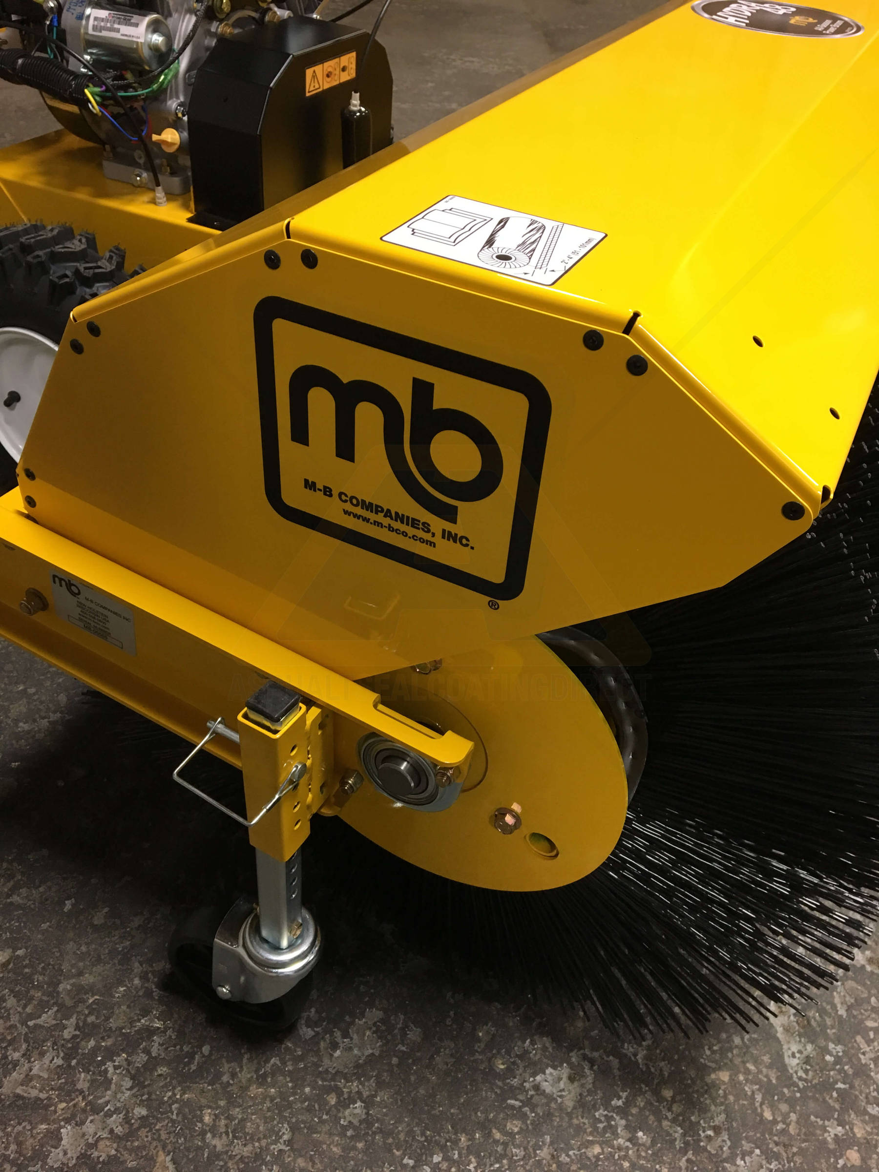 Mb Hydra 48 Inch Self Propelled Walk Behind Pavement Broom