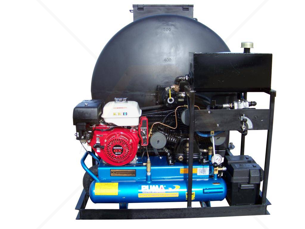 Big A Polyskid Plus 525 Gallon Asphalt Sealcoating Machine