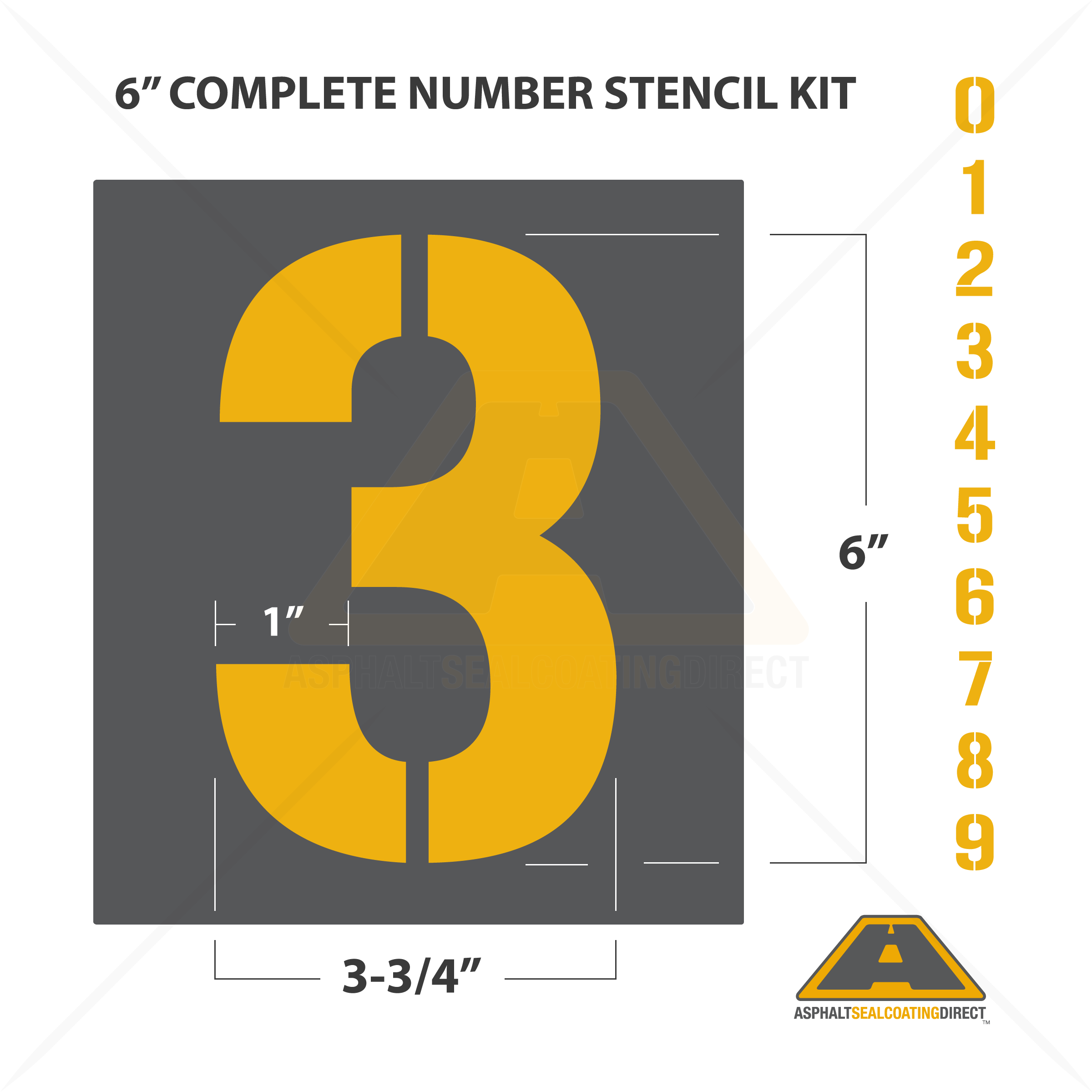 Ych Batch Number Three: Number Parking Lot Stencils Kit For Sale
